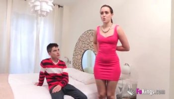 Stud receives cock riding from a slutty darling